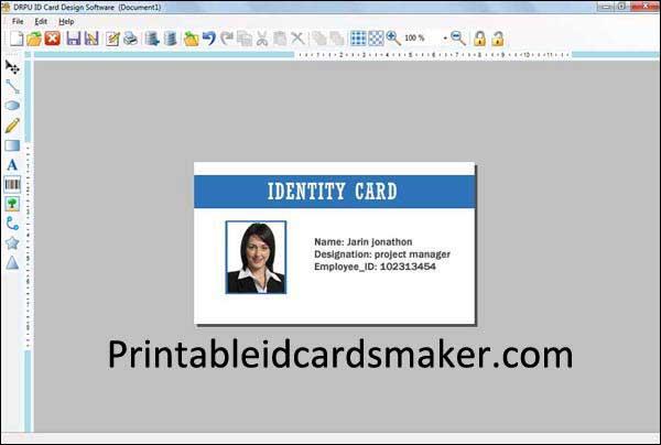 Windows 7 ID Card Maker 8.2.0.1 full
