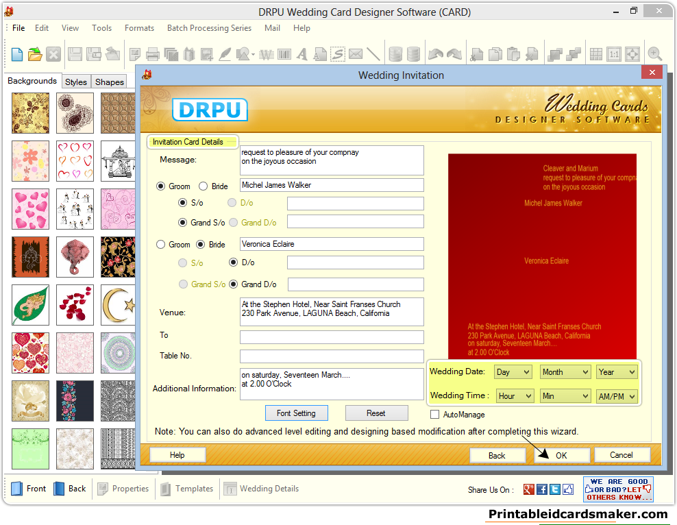 Software Wedding Invitations: Wedding Cards Maker Software Screenshots To Create Own